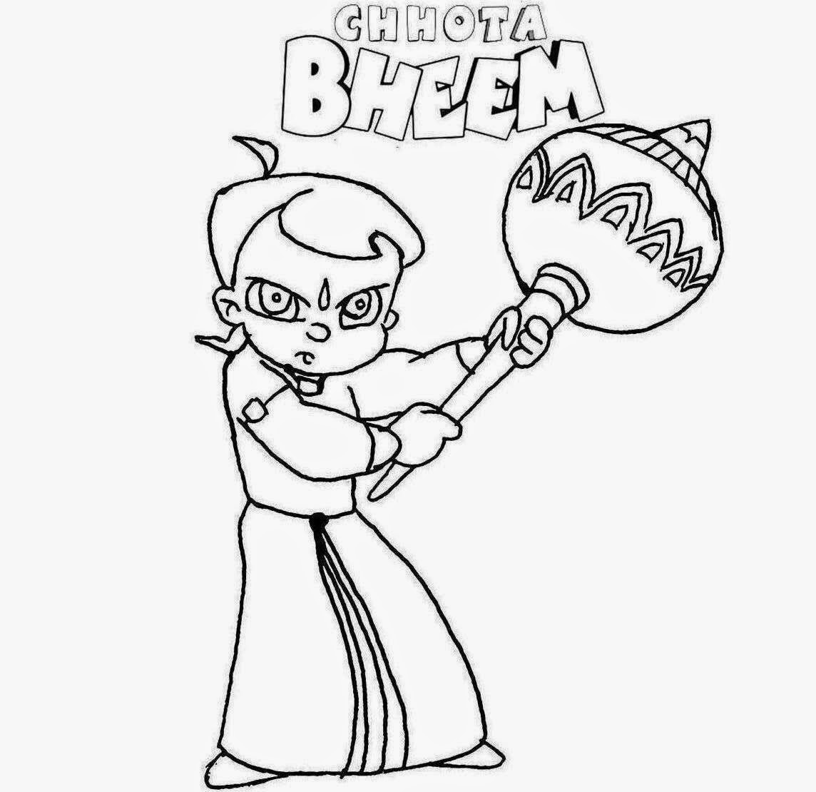 Chota Bheem For Kid Coloring Drawing Free wallpaper