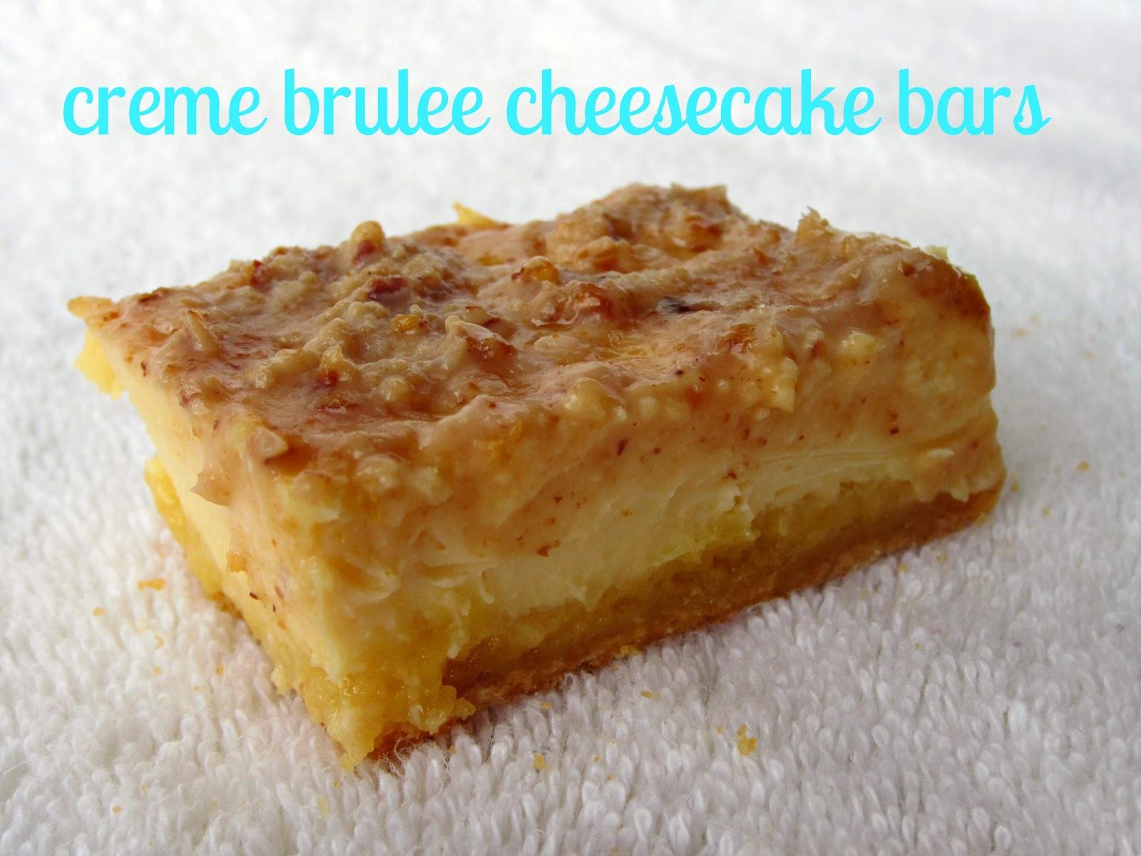 Sugarcoated: Creme Brulee Cheesecake Bars
