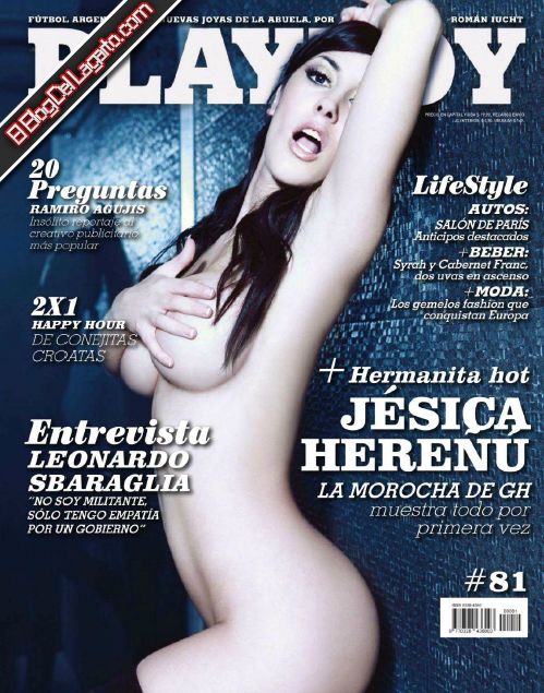Revista Playboy Argentina Jesica Hereñu Sep 2012