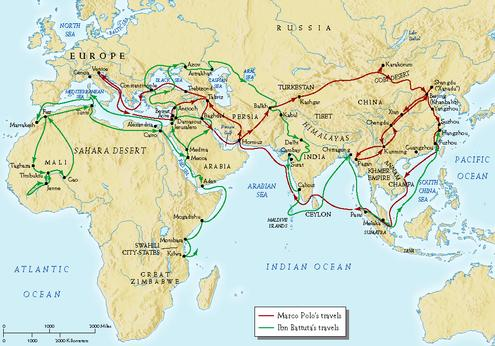 marco polo and ibn battuta Marco polo noted, merchants come thither (to hormuz) from india, with ships  loaded with  some of the more noted are marco polo, ibn battuta and zheng  he.