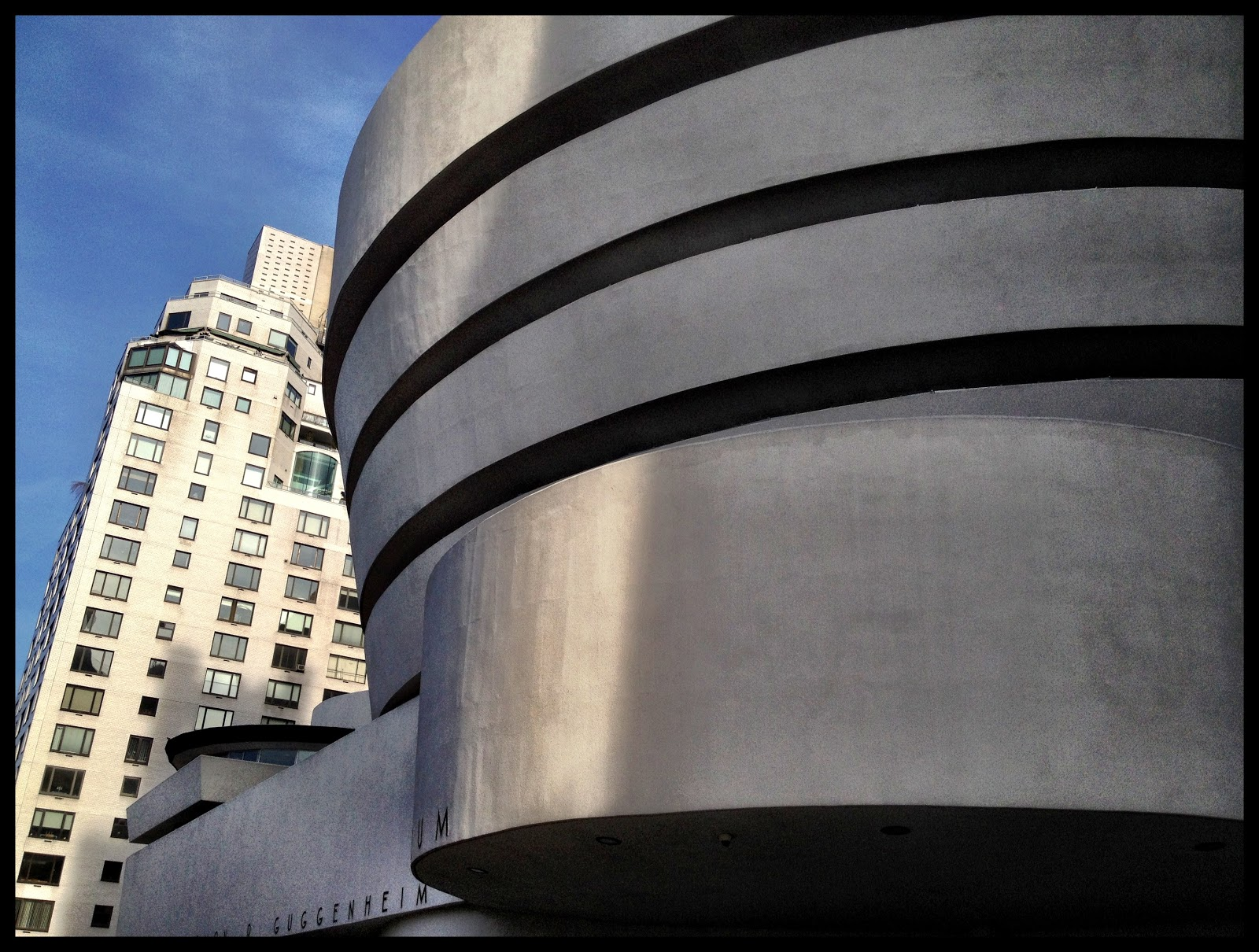 Outside the Guggenheim Museum, New York. Taken using Camera+