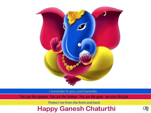 """Happy Ganesh Chaturthi """"i Surrender to you ,lord Ganesh You are the Speaker .Your R..... Greetings Free"""