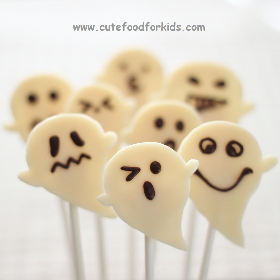 cute food for kids chocolate and marshmallow ghosts