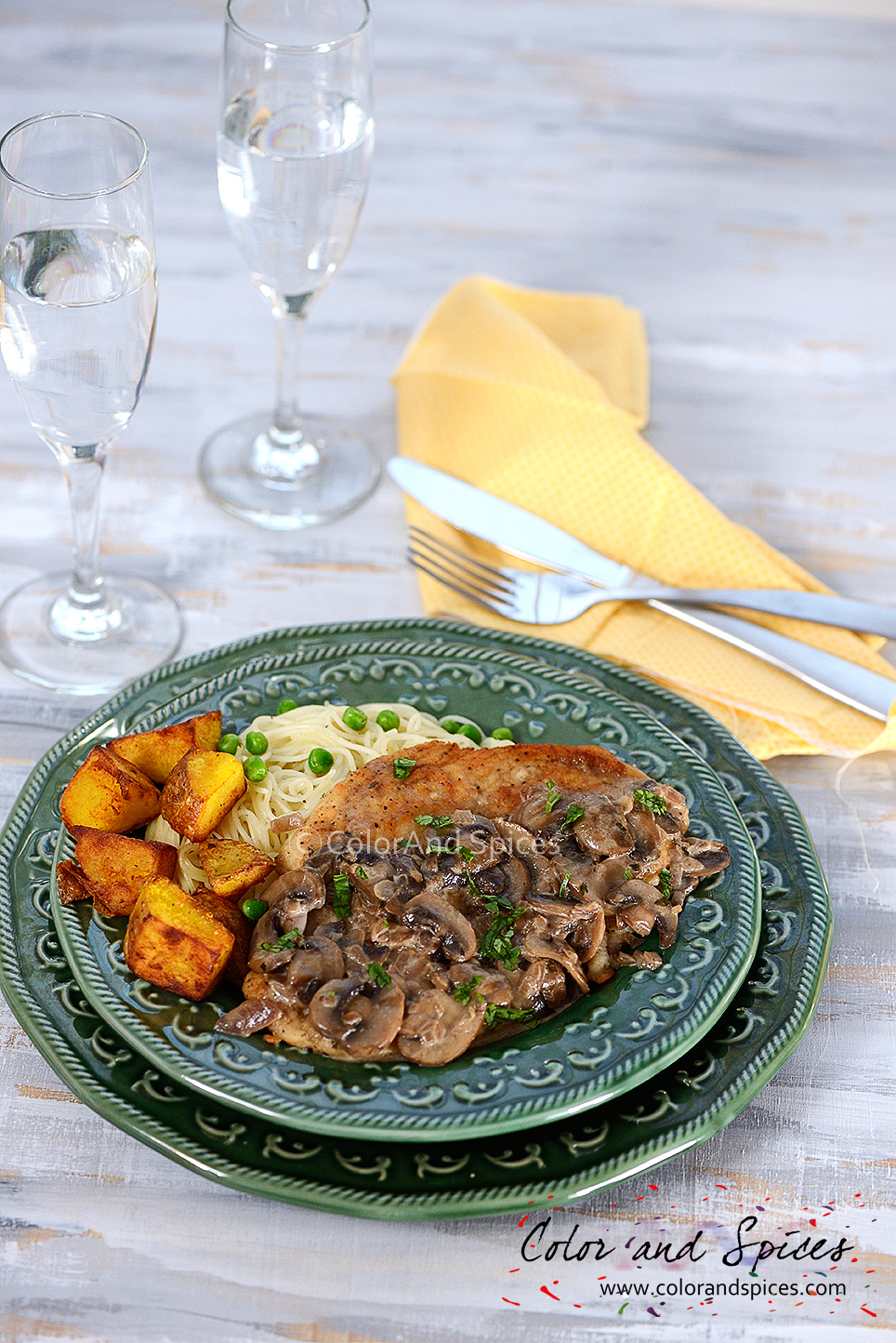 Color and Spices: Chicken marsala...