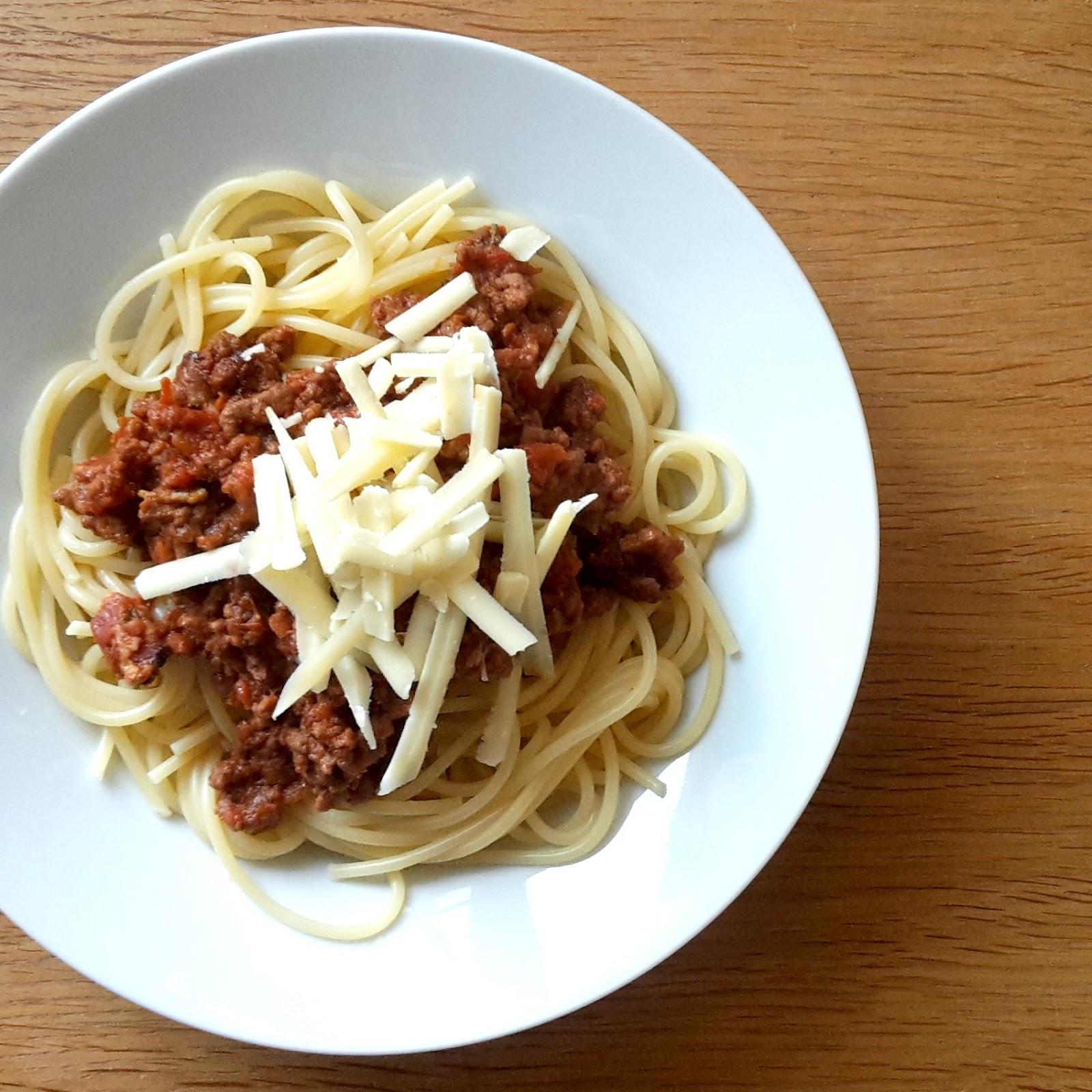 An easy mid week recipe. Spaghetti Bolognese