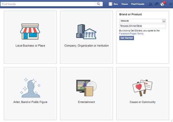 Cara Membuat Fanpage Facebook 2