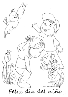 Dibujos Dia del Niño para Pintar, parte 1