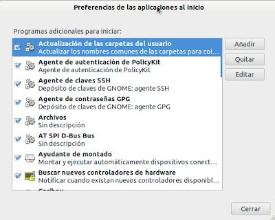Imagen de aplicaciones al inicio de Ubuntu 11.10