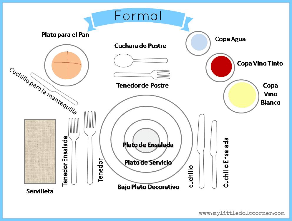 My little dol corner c mo poner la mesa perfecta en for Como poner una mesa bonita