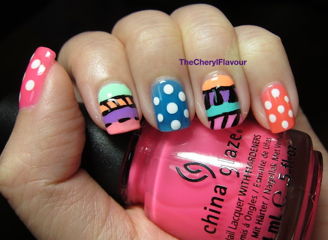 Candy Tribal Nails