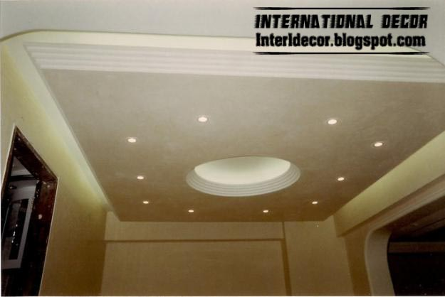 Classic gypsum, plaster roof in Spanish designs, calm gypsum roof ...