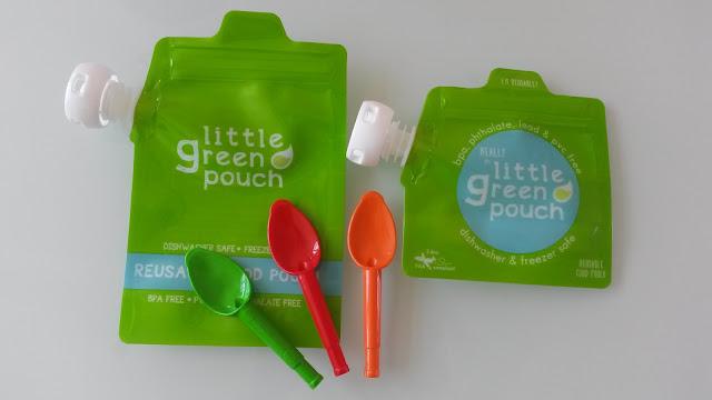 Little Green Pouch Gourde enfant pratique reutilisable