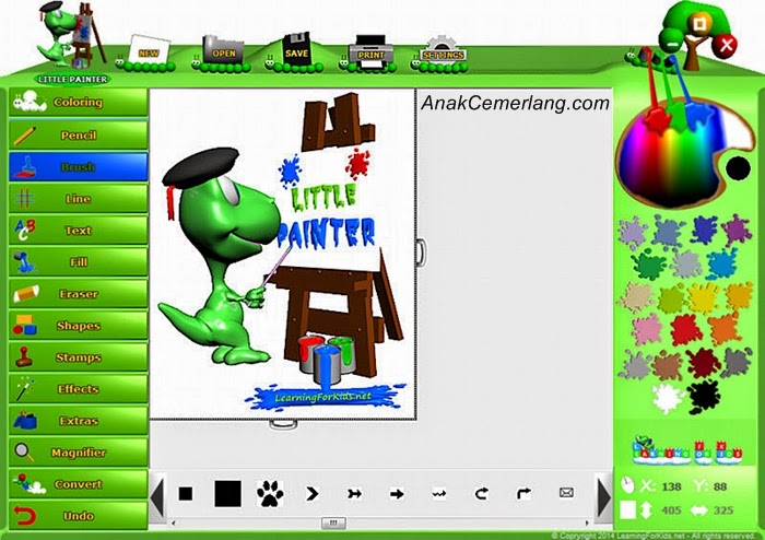 Software Belajar Menggambar Gratis Little Painter