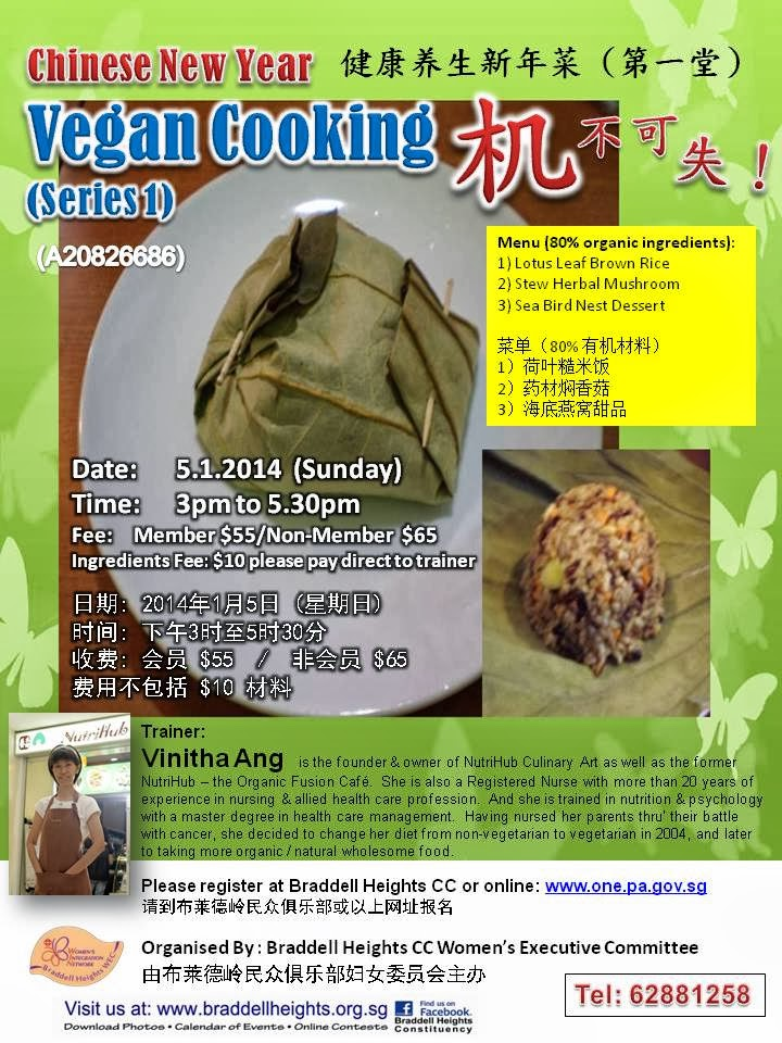 Vinitha's Chinese New Year Cooking class series 1 @ Braddell Heights CC
