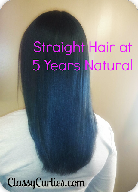 Straight hair at five years natural