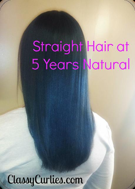 Straight hair at five years natural