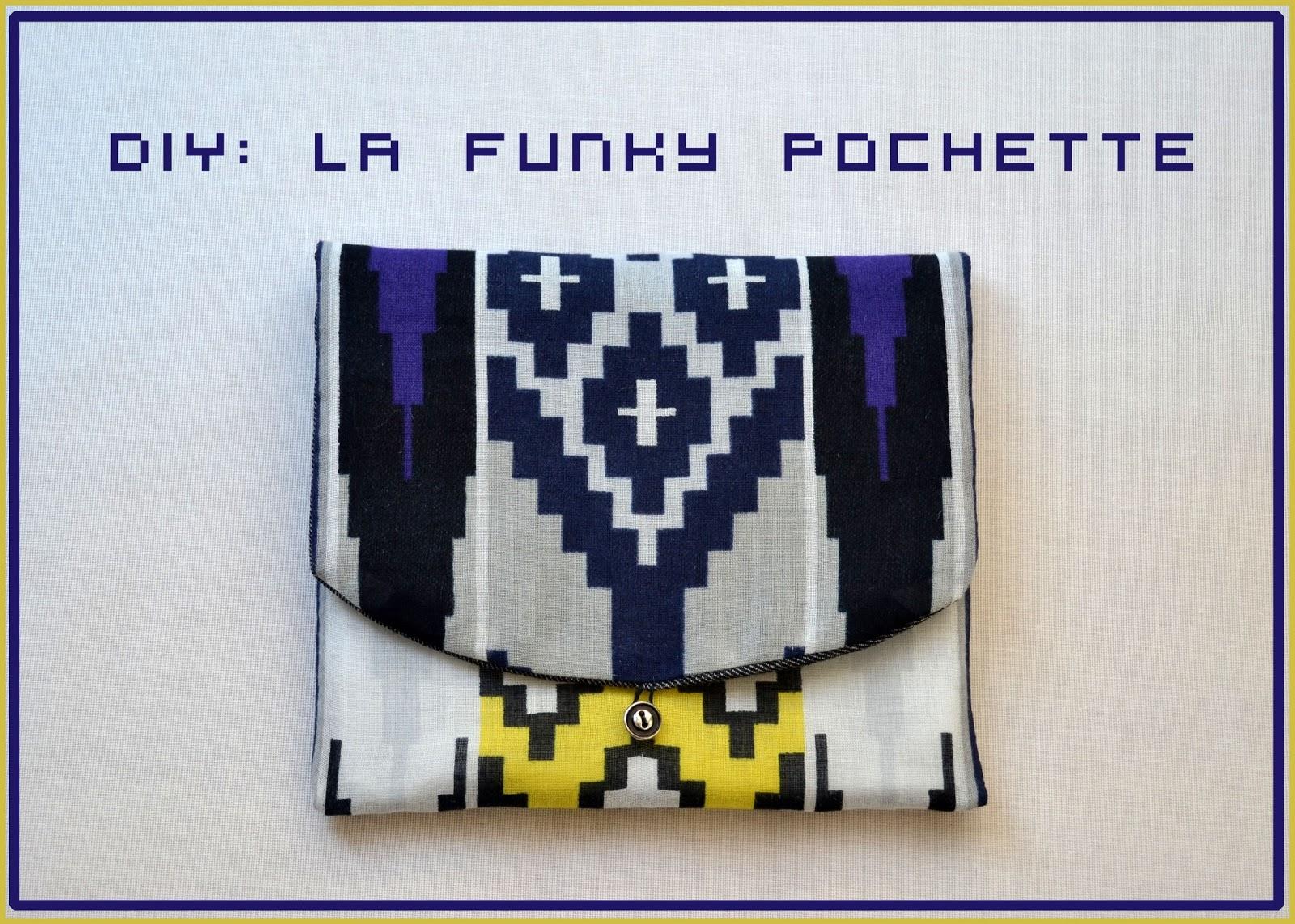 funky sunday diy la funky pochette en tissu. Black Bedroom Furniture Sets. Home Design Ideas