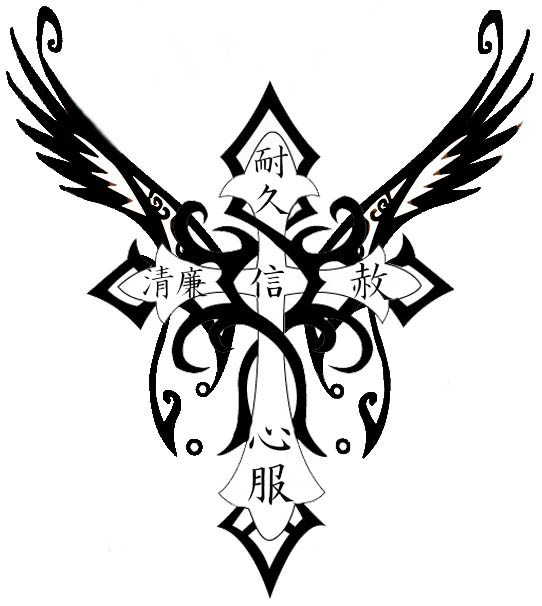 hannikate cross tattoos tribal with ideas. Black Bedroom Furniture Sets. Home Design Ideas