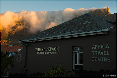 Cloud layer on Table Mountain behind The Backpack, Cape Town, South Africa © Matt Prater