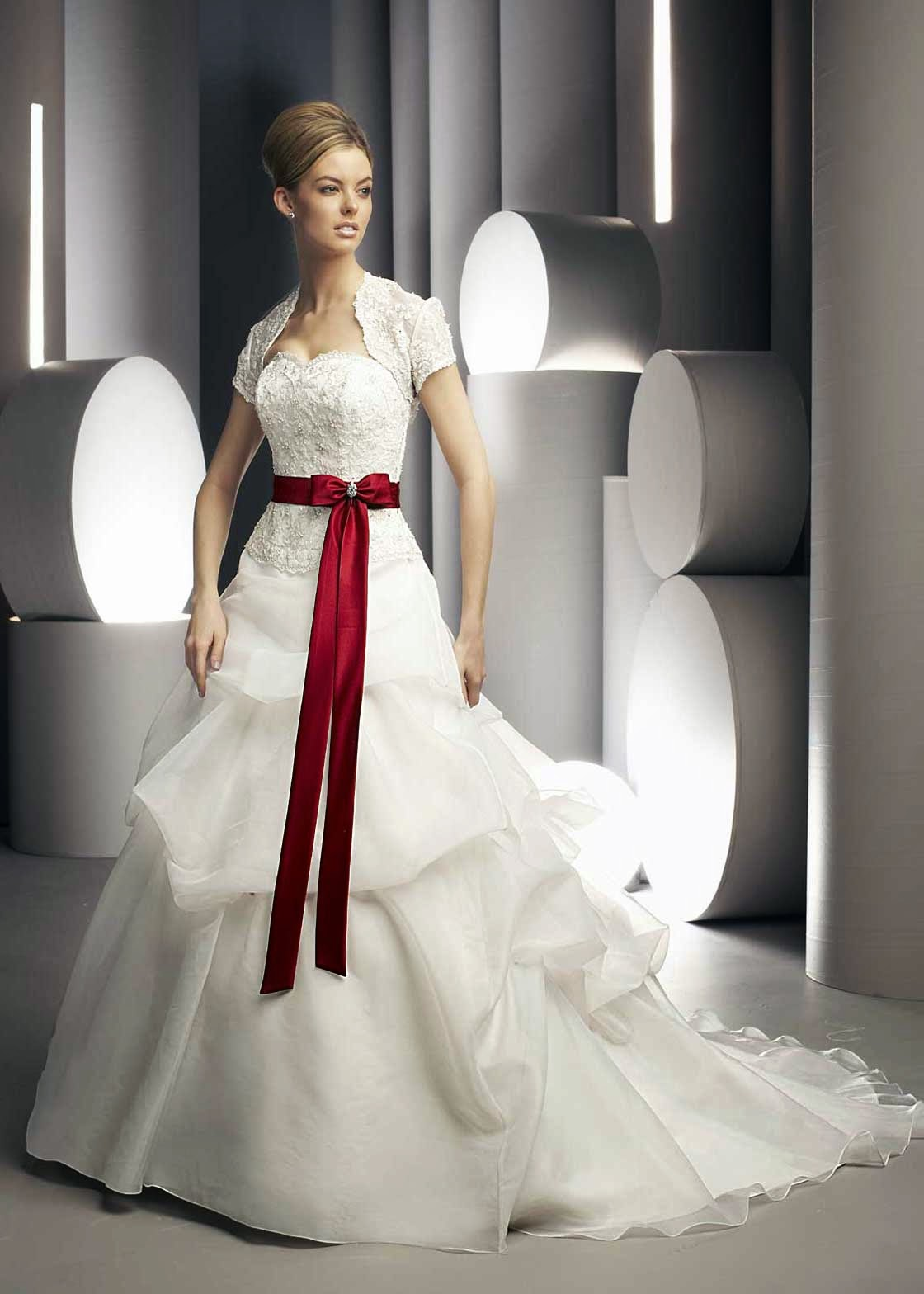 Colored Wedding Dresses With Sleeves Photos HD Concepts Ideas