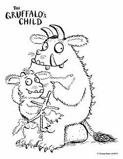 El Gruffalo para dibujar y colorear