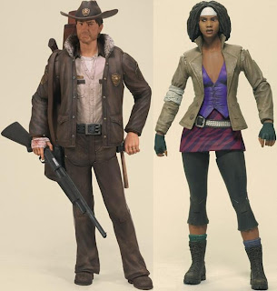 The Walking Dead Comic Book Series 1 - Officer Rick Grimes & Michonne Action Figures