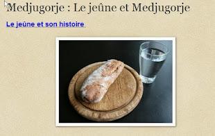 Medjugorje : Le jeûne et Medjugorje