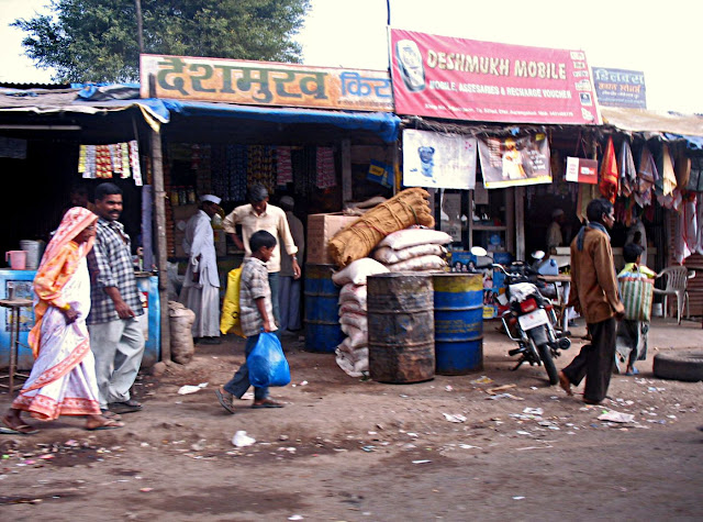 small kirana store in a poor locality