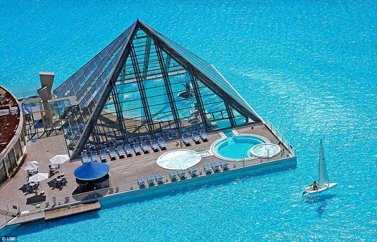 بالصور .. أكبر حمام سباحة فى العالم بطول 1 كيلو متر !!!!