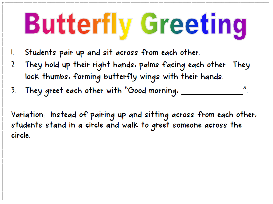 Tearless teaching morning meeting greetings heres an example of one of the greetings m4hsunfo Choice Image