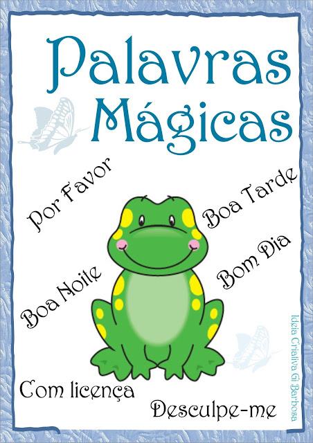 Cartazes para Parede da Escola - Coleção Jardim da Fantasia
