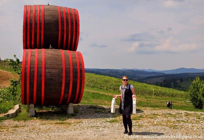 Feeling pretty happy after a afternoon of wine tasting (and buying) - Greve in Chianti, Italy