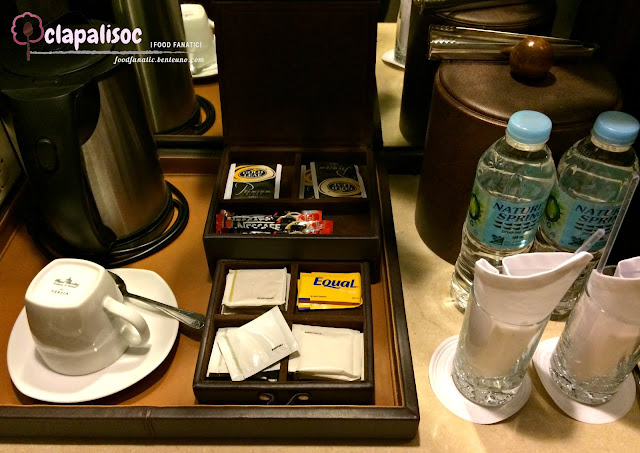Intercontinental Hotel Manila Complimentary water, tea and coffee