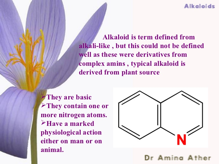 extraction of alkaloids from plants pdf