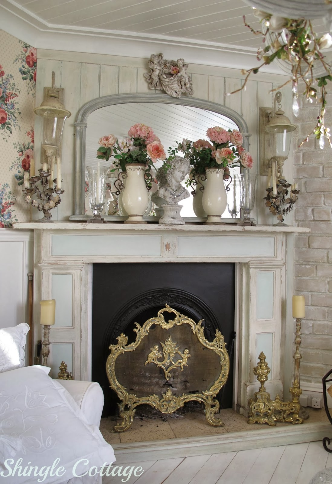 Fire places on pinterest fireplaces mantles and mantels - Deco shabby chic ...