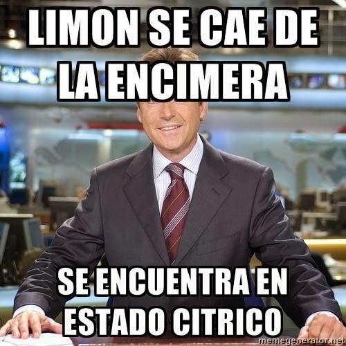 Matías Prats: 'Limón se cae de la encimera... se encuentra en estado citrico'