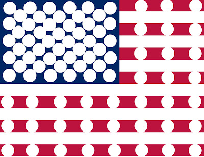 American Flag 4th of July Do-A-Dot Printable (Image from Simply Montessori)