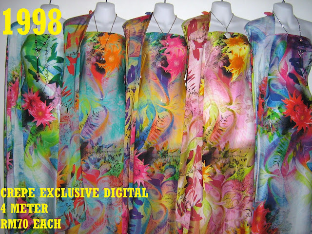 CP 1998: CREPE EXCLUSIVE DIGITAL PRINTED, 4 METER