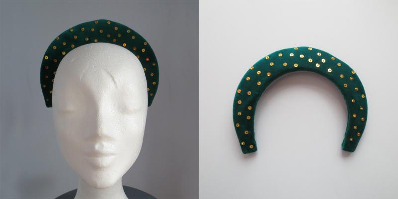 Hat by Stina P Emeraude Jewels Hiver 1951