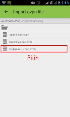 cara menggunakan openvpn android