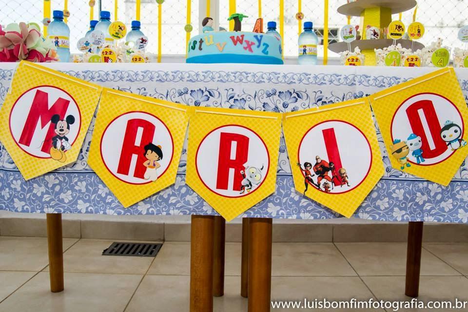 Decoração Festa Tema Alfabeto
