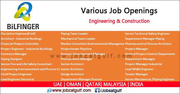 Engineering & Construction Job Openings at Bilfinger | UAE | OMAN ...