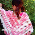 Poncho with tassels for girls
