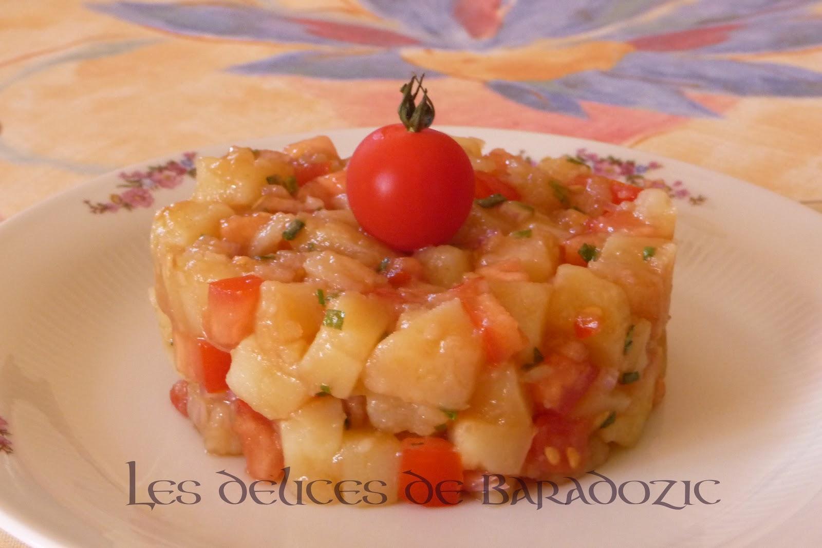 Salade de pommes de terre multicolore blogs de cuisine for Entree facile et pas chere