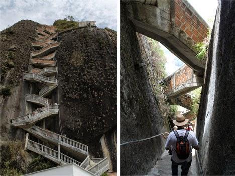 شاهد صخرة الدرج أغرب مكان يمكن ان تراه