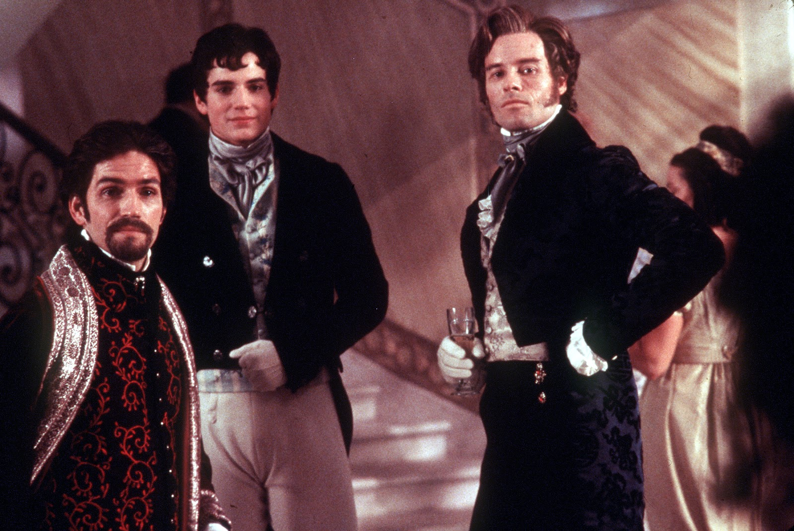 elegance of fashion review the count of monte cristo left to right edmond as the count of monte cristo albert mondego and fernand mondego