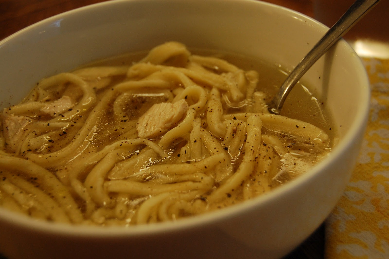 time to eat: Chicken Noodle Soup with Homemade Noodles