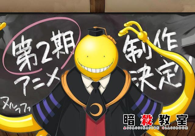 Koro-sensei ogłasza Ansatsu Kyoushitsu sezon 2