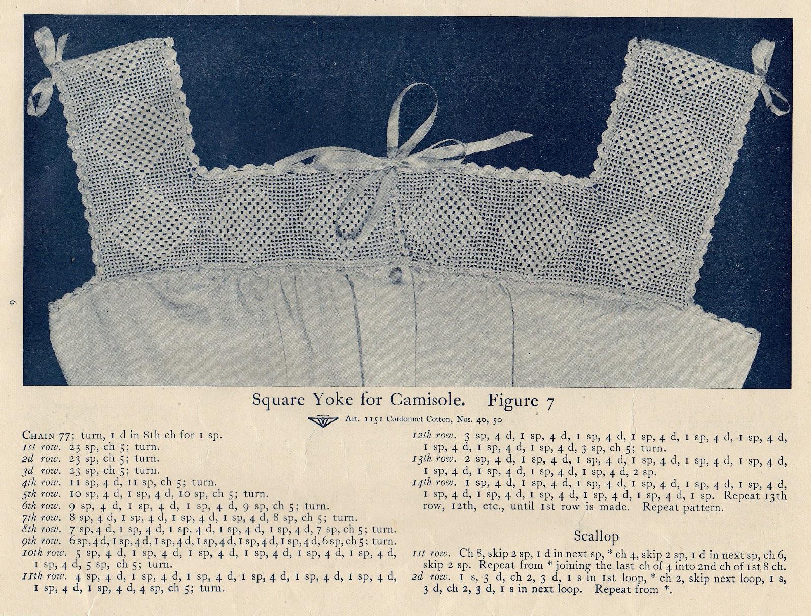 camisole crochet pattern