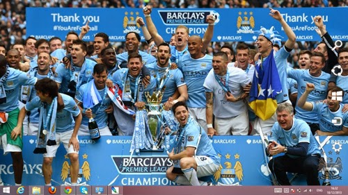 Manchester City The Winer Premier League 2014 Theme For Windows 7 And 8 8.1